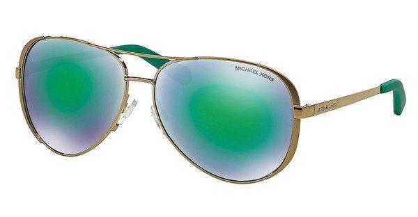 Michael Kors Damen Sonnenbrille »CHELSEA MK5004« in 10043R - gold/grün