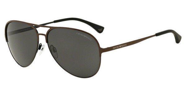 Emporio Armani Herren Sonnenbrille » EA2032« in 312887 - braun/grau