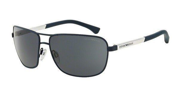 Emporio Armani Herren Sonnenbrille » EA2033« in 313187 - blau/schwarz