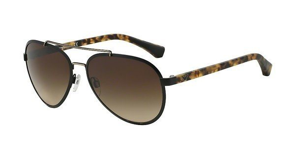Emporio Armani Herren Sonnenbrille » EA2024« in 300113 - schwarz/braun