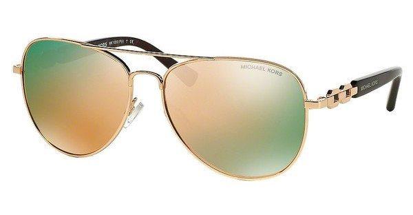 Michael Kors Damen Sonnenbrille »FIJI MK1003« in 1003R5 - rosa/ gold