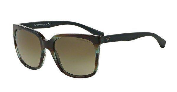 Emporio Armani Damen Sonnenbrille » EA4049« in 538813 - braun/braun