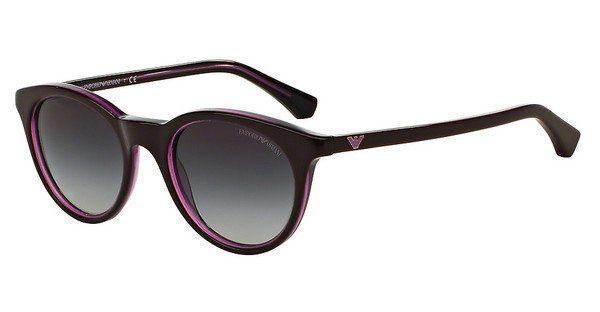 Emporio Armani Damen Sonnenbrille » EA4061«, lila, 54818G - lila/grau