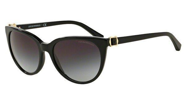 Emporio Armani Damen Sonnenbrille » EA4057« in 50178G - schwarz/grau