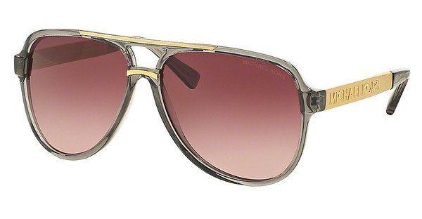 Michael Kors Damen Sonnenbrille »CLEMENTINE II MK6025« in 30918H - grau/rot