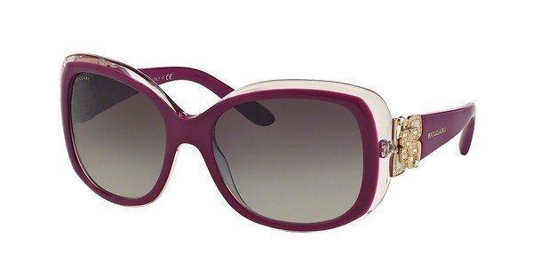 Bvlgari Damen Sonnenbrille » BV8172B« in 53928G - rot/grau
