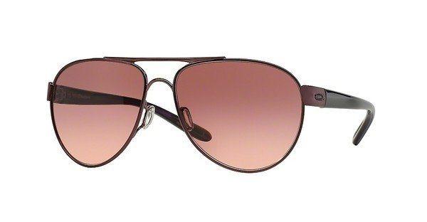 Oakley Damen Sonnenbrille »DISCLOSURE OO4110« in 411001 - schwarz/rot