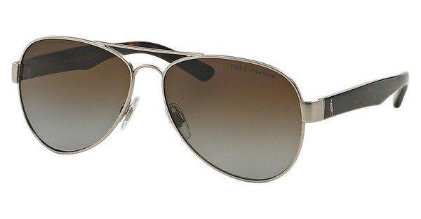 Polo Herren Sonnenbrille » PH3096« in 9010T5 - silber/braun