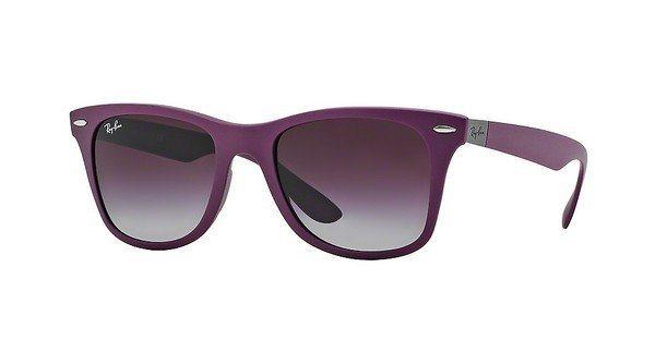 RAY-BAN Herren Sonnenbrille »WAYFARER LITEFORCE RB4195« in 60874Q - grau/ lila