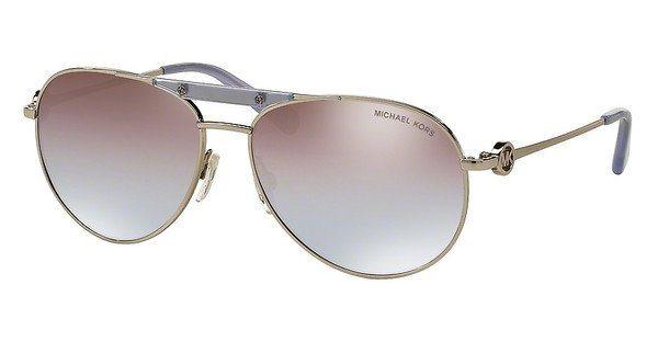 Michael Kors Damen Sonnenbrille »ZANZIBAR MK5001« in 109894 - silber/ silber