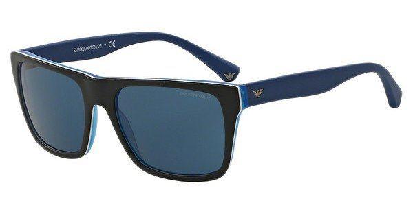Emporio Armani Herren Sonnenbrille » EA4048« in 539280 - schwarz/blau