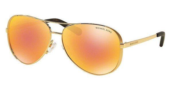 Michael Kors Damen Sonnenbrille »CHELSEA MK5004« in 1024F6 - gold/orange