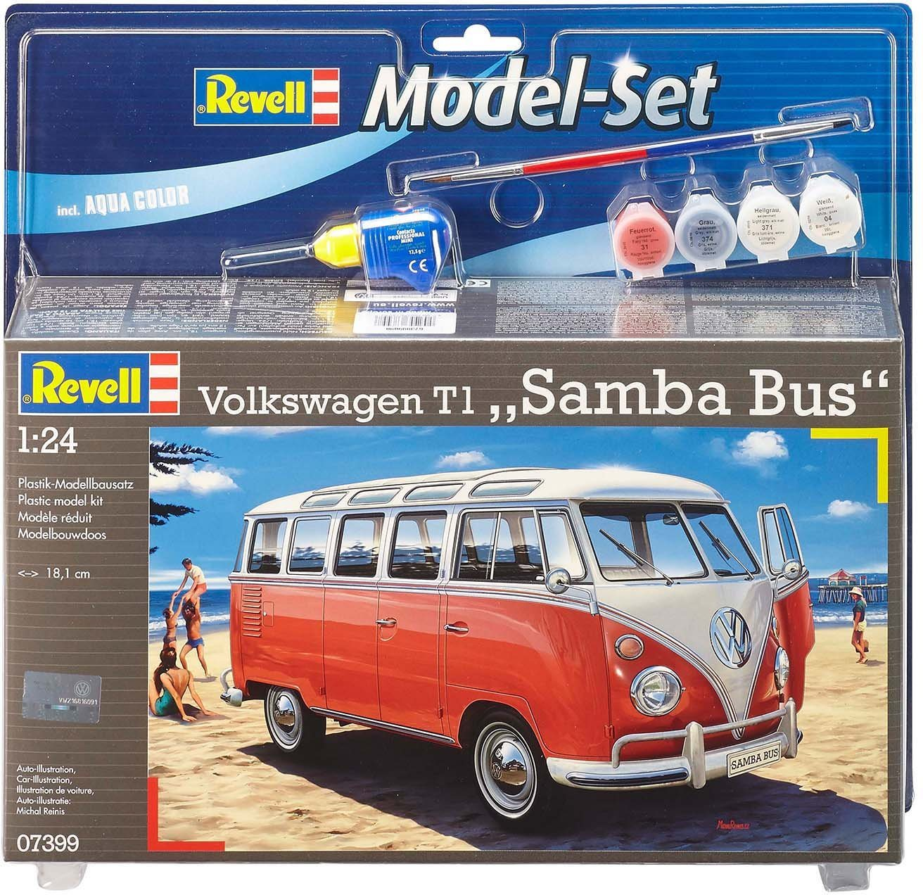 Revell® Modellbausatz Bus, Maßstab 1:24, »Model Set VW T1 Samba Bus«