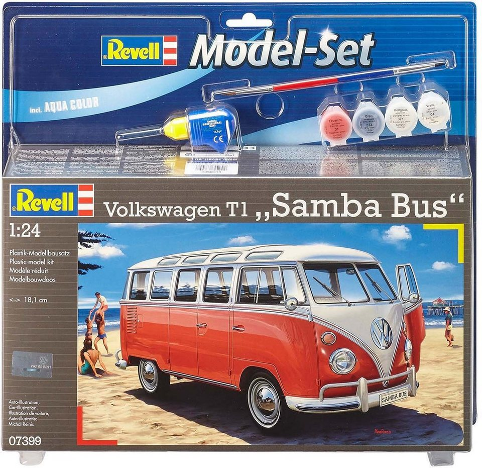 revell modellbausatz bus ma stab 1 24 model set vw t1 samba bus online kaufen otto. Black Bedroom Furniture Sets. Home Design Ideas