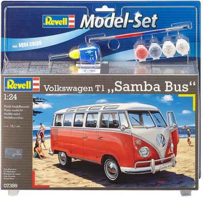 Revell® Modellbausatz »Model Set VW T1 Samba Bus«, Maßstab 1:24, Made in Europe