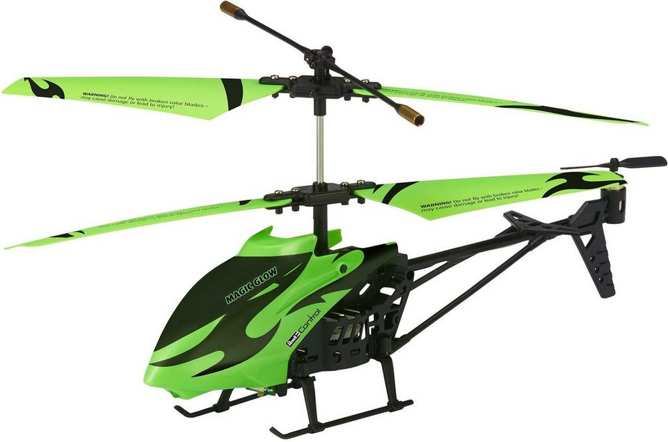 Revell® Control, RC Helicopter mit Glow in the dark Effekt, »Magic Glow« in schwarz/grün