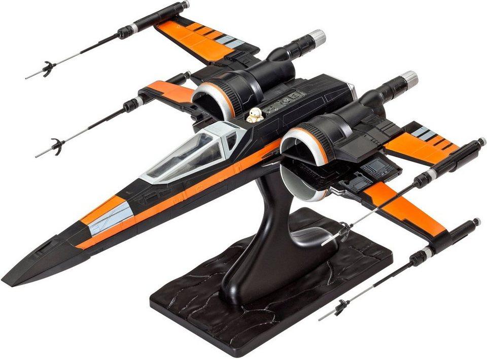 Revell® Modellbausatz Raumgleiter, Maßstab 1:50, »Disney Star Wars Poe's Xwing Fighter™« in schwarz