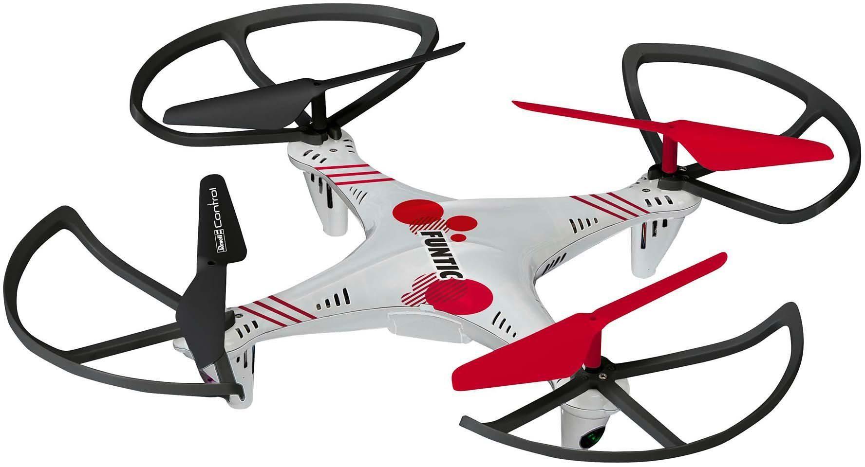 Revell® Control, RC-Quadcopter inkl. Ersatzrotor-Set und USB-Ladegerät, »Funtic«