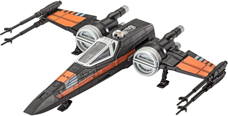 Revell® Modellbausatz Starfighter mit Sound, 1:78, »Disney Star Wars Poes Xwing Fighter™« in schwarz