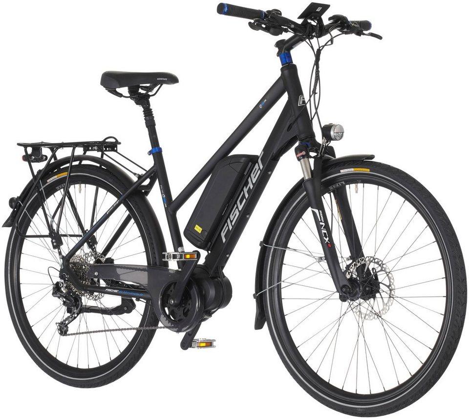 E-Bike Trekking Damen »ETD1607«, 28 Zoll, 9 Gang, Mittelmotor, 504 Wh in schwarz