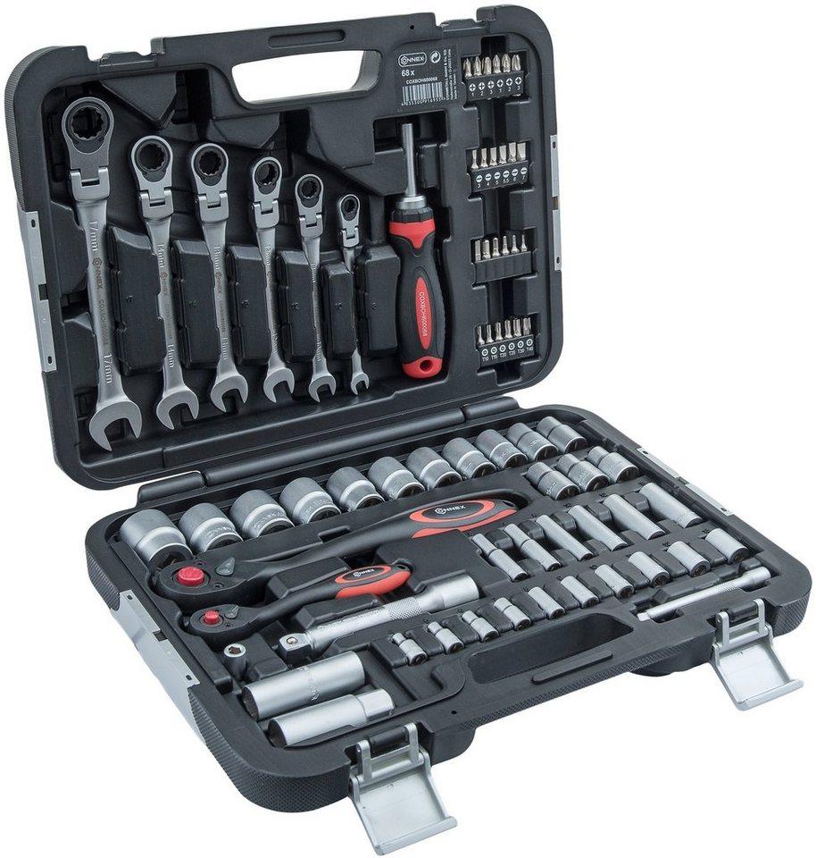 Werkzeugkoffer »COXBOH600068«, 68-tlg. in schwarz