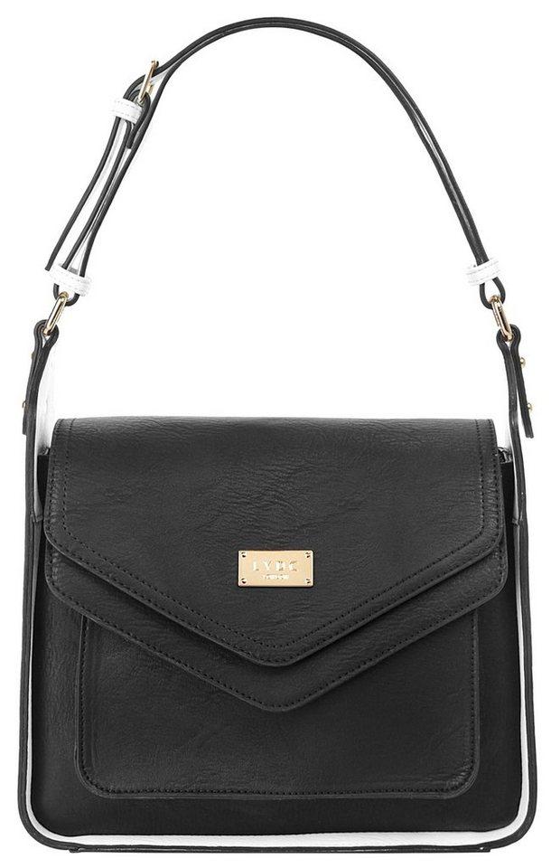 LYDC Damen Handtasche in schwarz