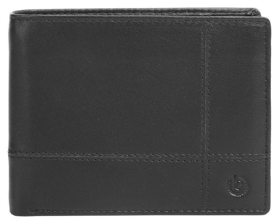 Bugatti Leder Herren Geldbörse in schwarz