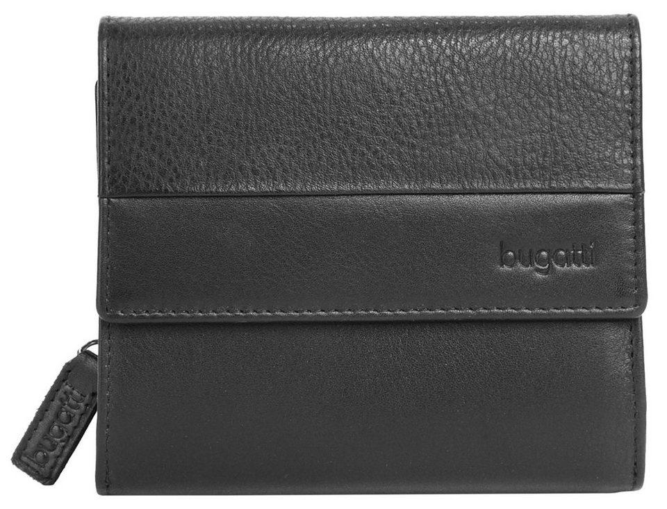 Bugatti Leder Damen Geldbörse »Atlanta« in schwarz