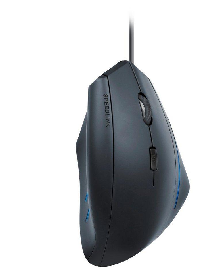 SPEEDLINK Vertikale Maus »MANEJO Ergonomische Vertikal Maus USB schwarz«