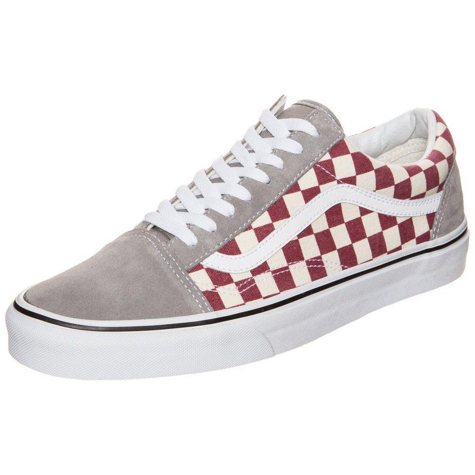 VANS Old Skool Checkerboard Sneaker Herren in rot / grau / weiß