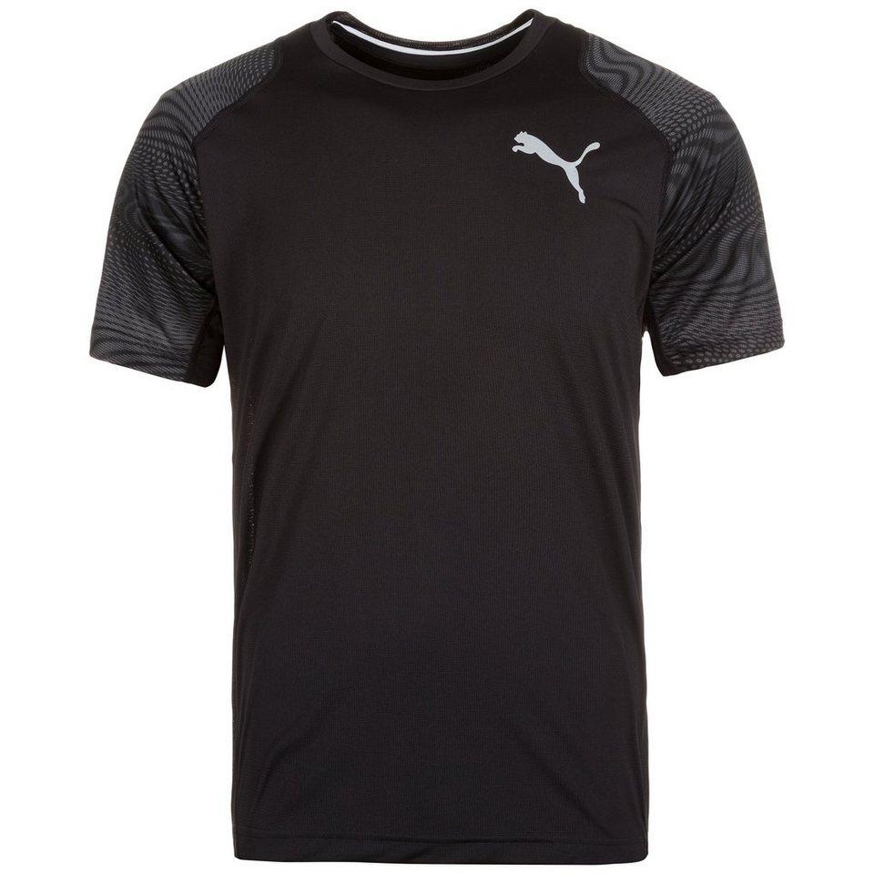PUMA Vent Graphic Trainingsshirt Herren in schwarz / anthrazit