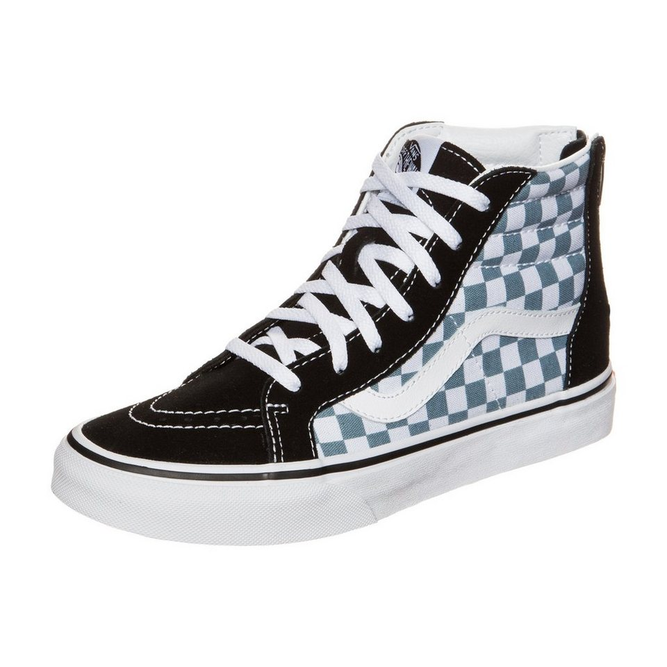 VANS Sk8-Hi Zip Checkerboard Sneaker Kinder in schwarz / weiß