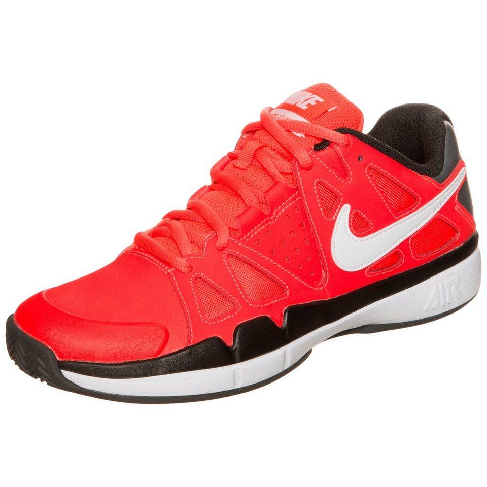NIKE Air Vapor Advantage Clay Tennisschuh Herren in rot / weiß / grau