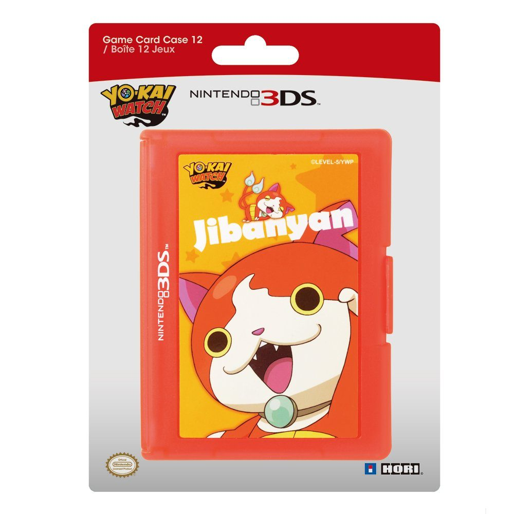 Hori Nintendo 3DS - Zubehör »Yo-Kai Watch Card Case (12) - rot«