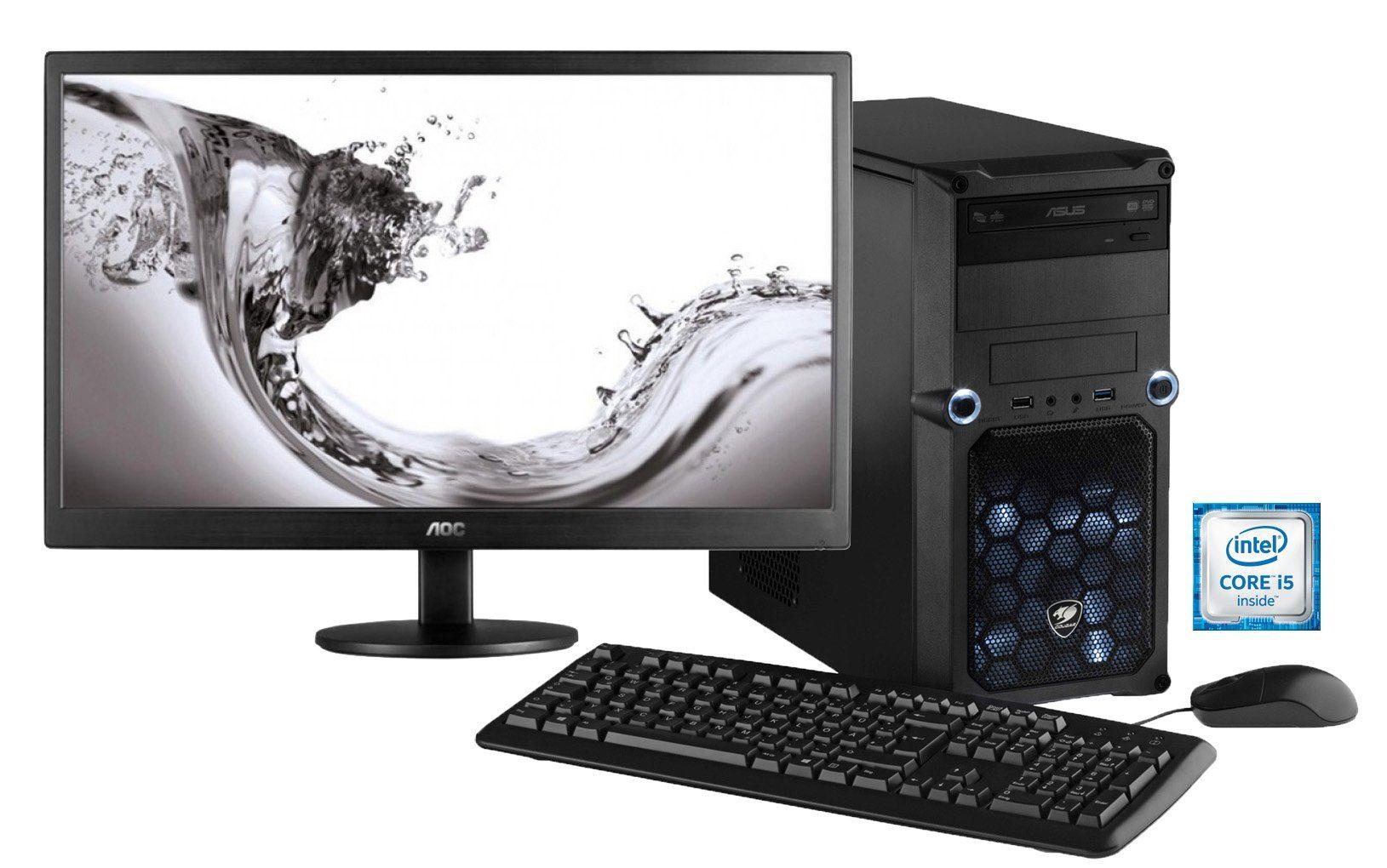 Hyrican PC SET Intel® i5-6400, 16MB, 1TB, 120GB SSD, GTX 950 + Monitor »MSI Edition SET01064«