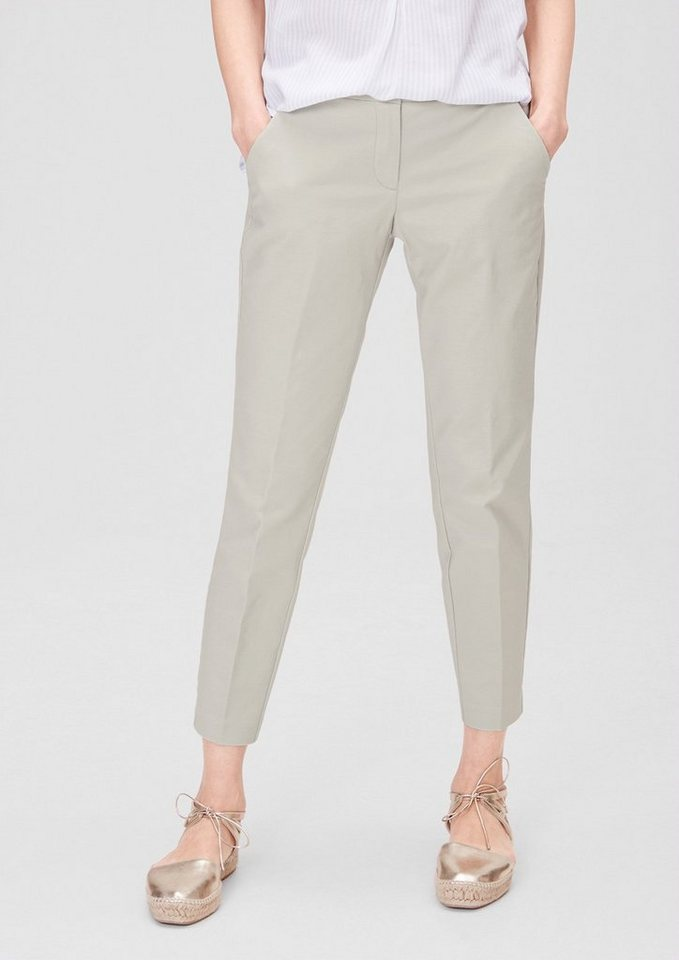 s.Oliver RED LABEL Shape Ankle: Stretchige Stoffhose in sand stone