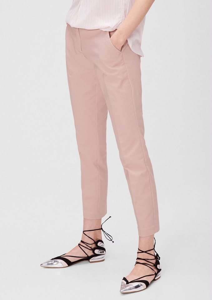 s.Oliver RED LABEL Shape Ankle: Stretchige Stoffhose in light rose