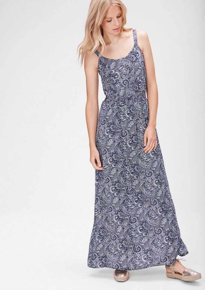 s.Oliver Denim Maxikleid mit Musterprint in night blue paisley A