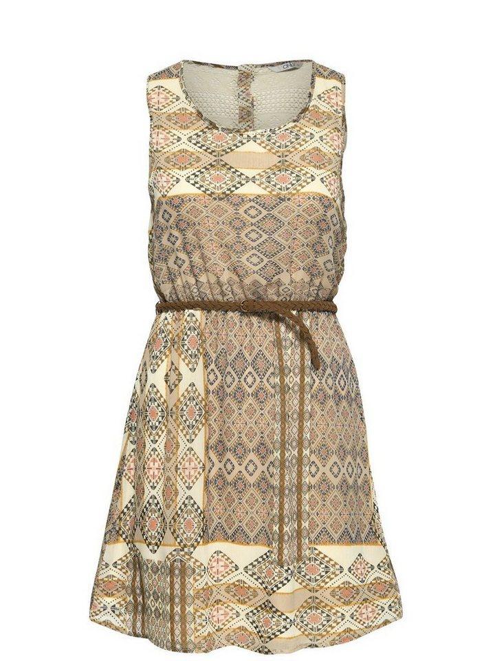 Only Bedrucktes Kleid ohne Ärmel in Bone White 1