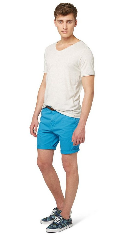 TOM TAILOR DENIM Shorts »Chino slim bermuda« in bluejay blue