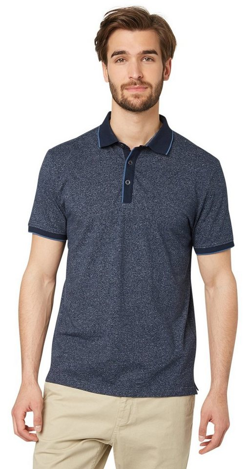 TOM TAILOR Poloshirt »Polo-Shirt aus Jersey« in real navy blue