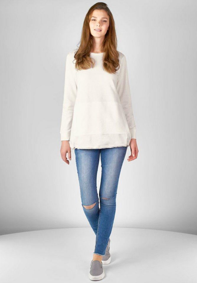 Street One Oversize Sweatshirt Nino in off white
