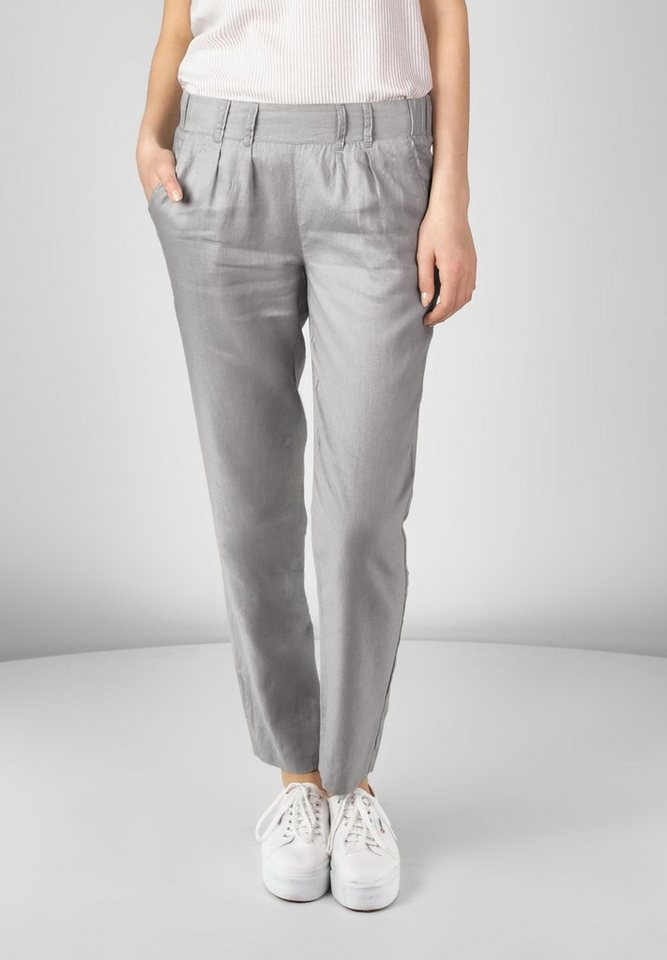 Street One Leinen Hose Josefin in pearl grey