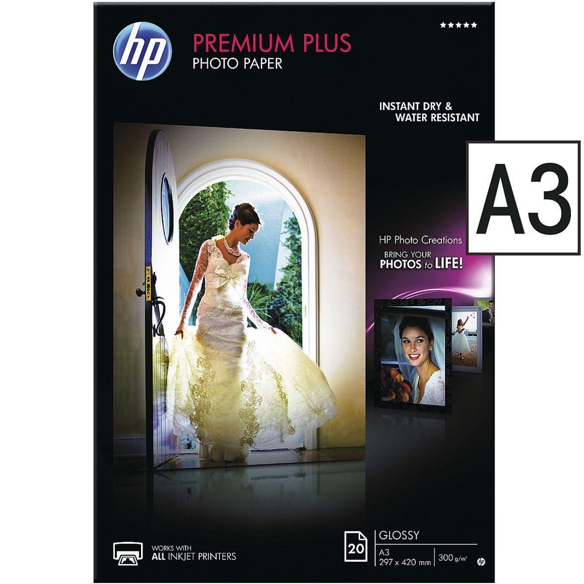 HP Fotopapier A3 20 Blatt »HP premium plus«