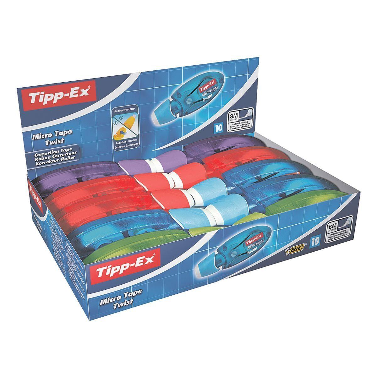 TIPPEX 10er-Pack Einweg-Korrekturroller »Micro Tape Twist«