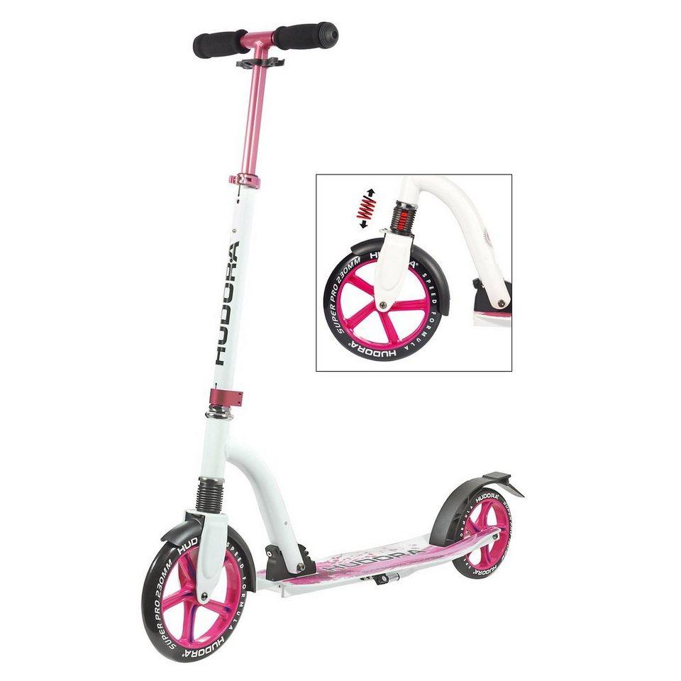 Hudora Scooter Bold Wheel Cushion, magenta in pink/weiß
