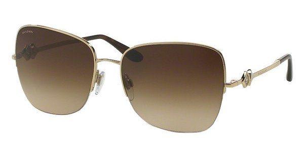 Bvlgari Damen Sonnenbrille » BV6077B« in 278/13 - gold/braun