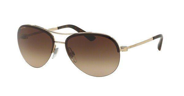 Bvlgari Damen Sonnenbrille » BV6081« in 278/13 - gold/braun