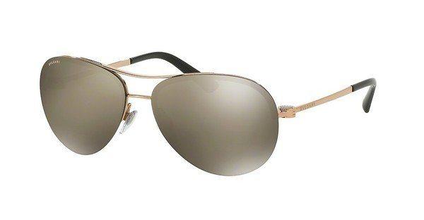 Bvlgari Damen Sonnenbrille » BV6081« in 376/5A - rosa/gold