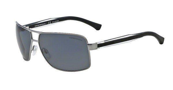 Emporio Armani Herren Sonnenbrille » EA2001«, grau, 31306G - grau/schwarz
